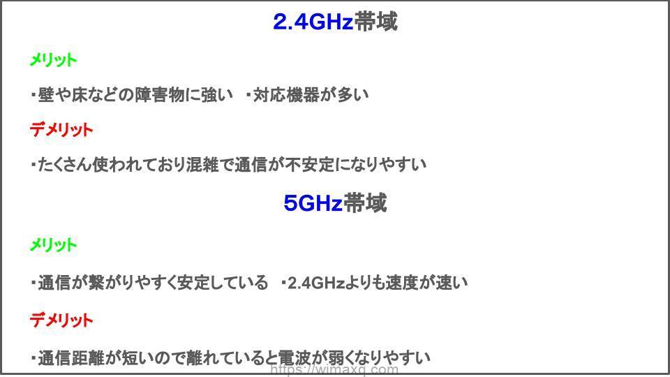 2.4ghz 5ghz 比較