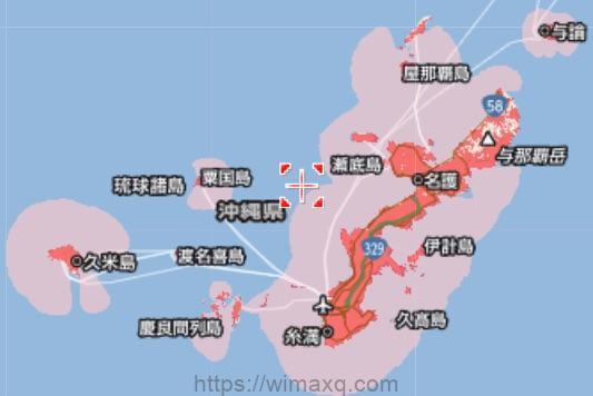ソフトバンクエアー 沖縄本島 サービスエリア 通信エリア