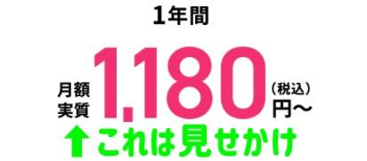 ソフトバンク光 フェイサム 1180円 理由
