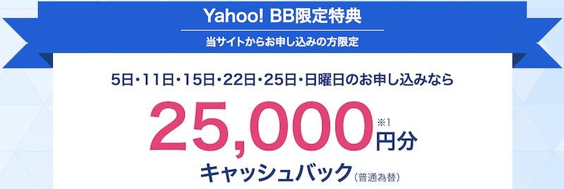 Yahoo! BB限定特典 5のつく日・ゾロ目の日・日曜日 内容