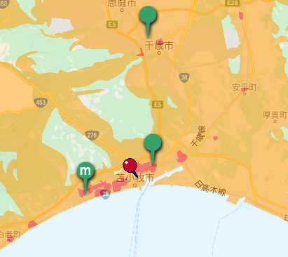 home5G 通信エリア 地図 5G エリア