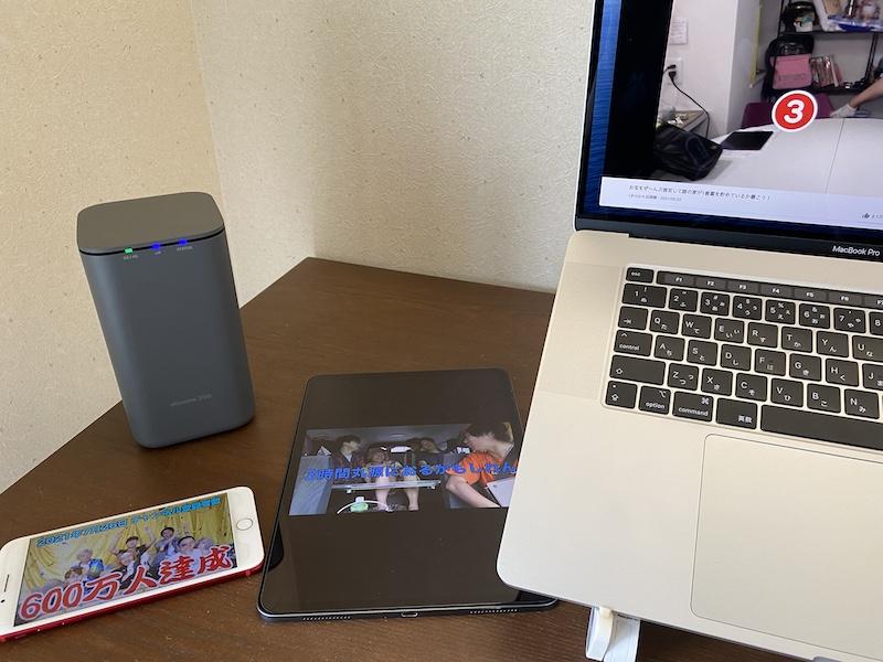 home5G 楽天SIM 複数台接続