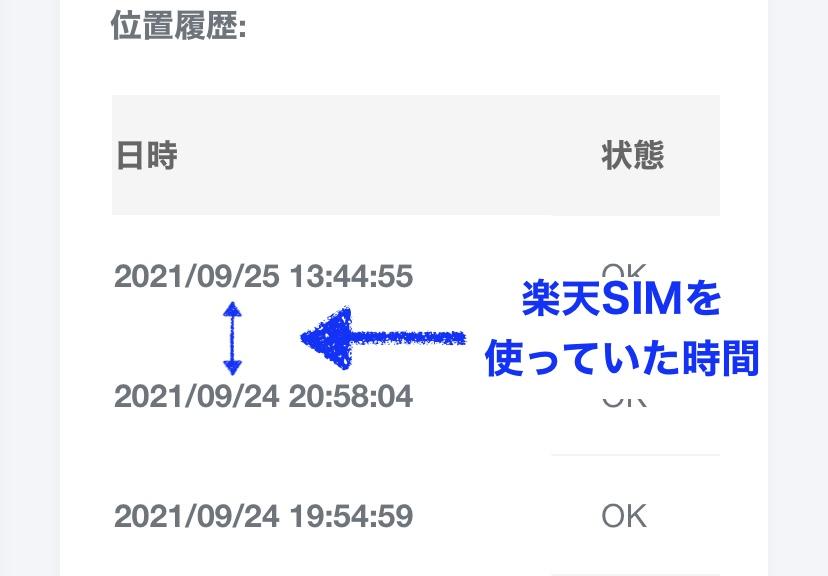 home5G 楽天SIM 位置情報取得の有無
